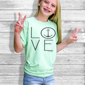 Youth Short- Sleeve-  Love Anchor