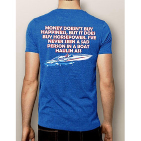 Men's Boating T-Shirt - NautiGuy Happiness Horsepower