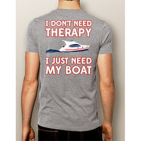 Men's Boating T-Shirt - NautiGuy Therapy