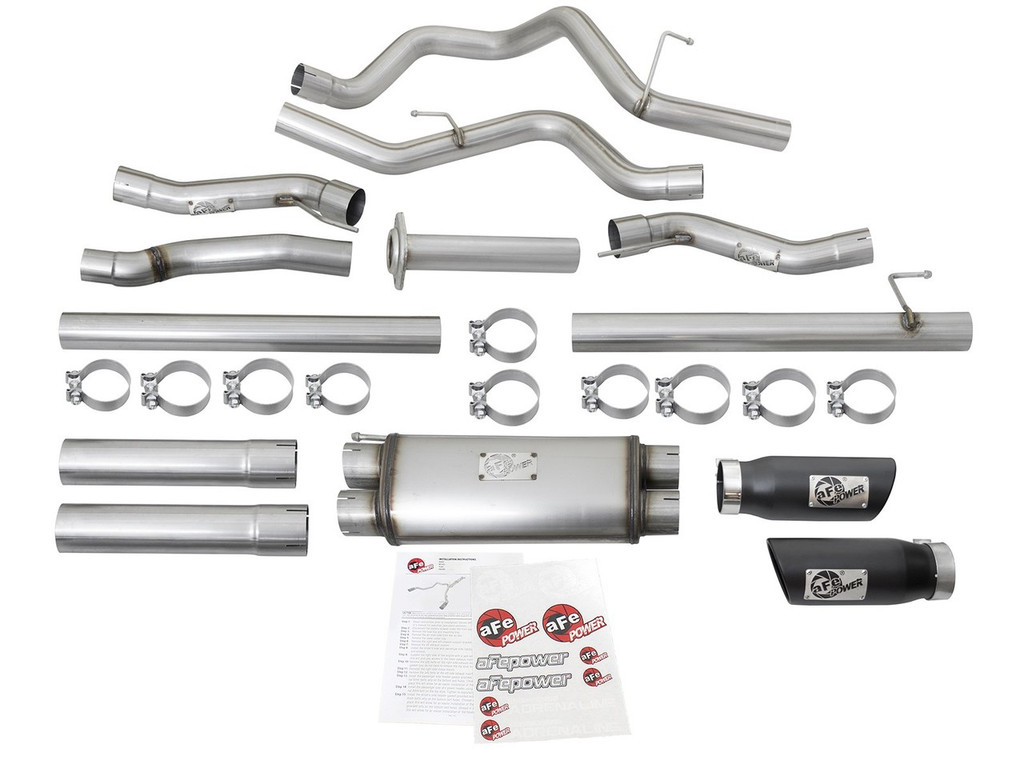 "aFe POWER 49-43045-B MACH Force-Xp 3"" 409 Stainless Steel Cat-Back Exhaust System"