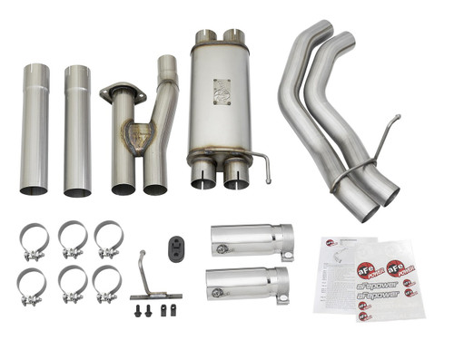 "aFe POWER 49-43091-P Rebel Series 3""409 Stainless Steel Cat-Back Exhaust System"