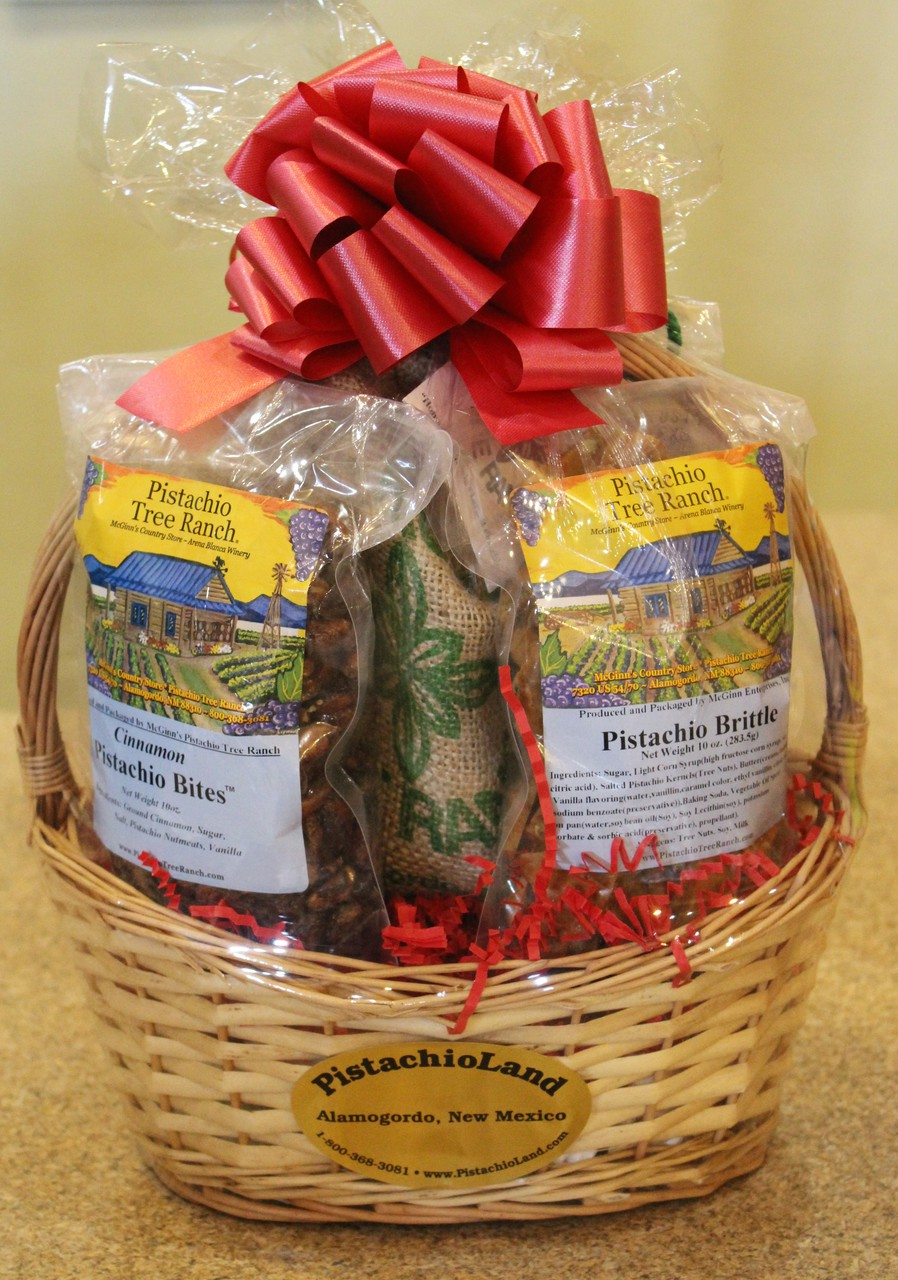 Gift #14 - Pistachio Nuts and Candy Gift Basket - PistachioLand ...