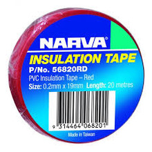 Narva Insulation Tape Red 20mtrs (56820RD)
