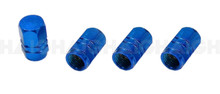 Tyre Valve Cap Set Alloy Blue (TG18)