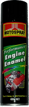 Motospray Engine Enamel Flat Black 400g (MSEE-400G)