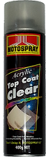 Motospray Acrylic Top Coat Clear 400g (MSTC-400G)