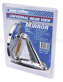 Mirror Rear View Round Chrome (185C)