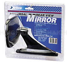 Mirror Rear View Rectangular Black (370B)