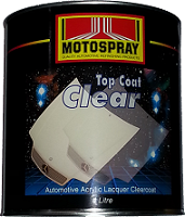 Motospray Top Coat Clear 4ltr (MSTCC-4L)