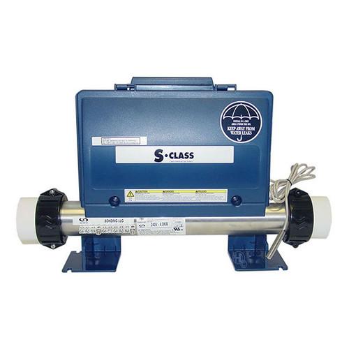 Gecko S Class spa control pack, 4kw heater, 2 pumps + circ pump, blower, mini JJ plugs