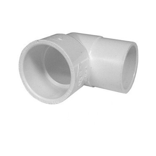 "White PVC Street Elbow - 1"" Slip x 1"" Spigot, 90 Degrees"