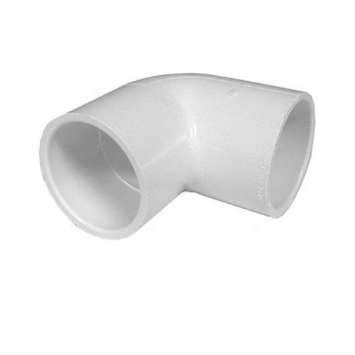 "White PVC Elbow - 2-1/2"" Slip x 2-1/2"" Slip, 90 Degrees"