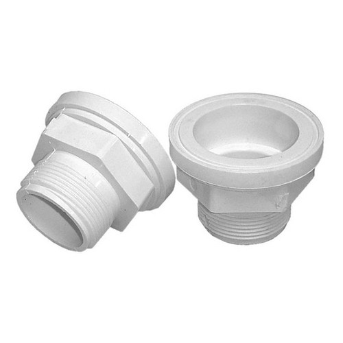 "PVC Tail Piece - 2"" Flange x 1-1/2"" MPT Thread"