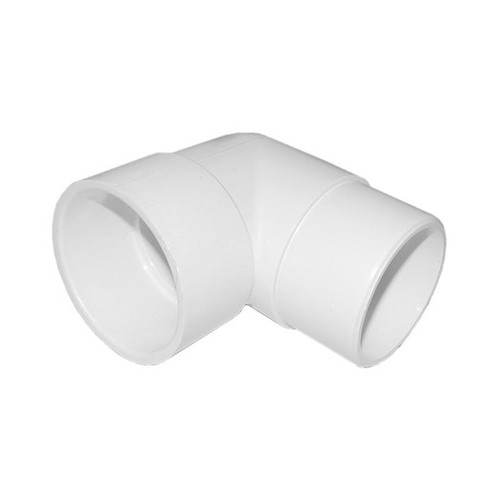 "White PVC Elbow - 2"" Slip x 2"" Spigot, 90 Degrees"