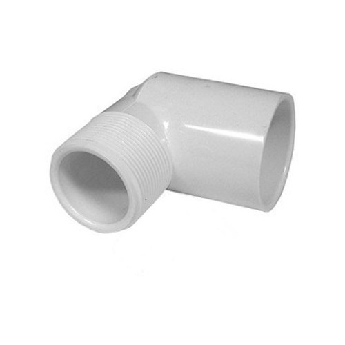 "PVC Street Elbow - 1"" Slip x 1"" MPT Thread"