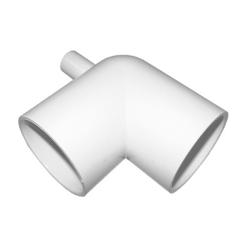 "PVC Elbow - 2"" Slip x 2"" Slip with 3/4"" Barb Fitting"
