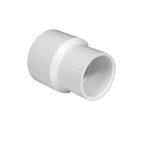 "White Reducing Coupling - 2"" Slip to 1-1/2"" Slip"