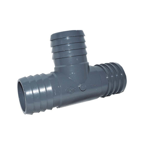 "PVC Insert Fitting Tee- 1-1/2"" Barb"