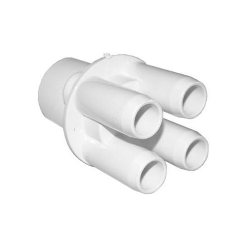 "Waterway Air Manifold Shur Grip - 1"" Slip x (4) 3/4"" Barb"