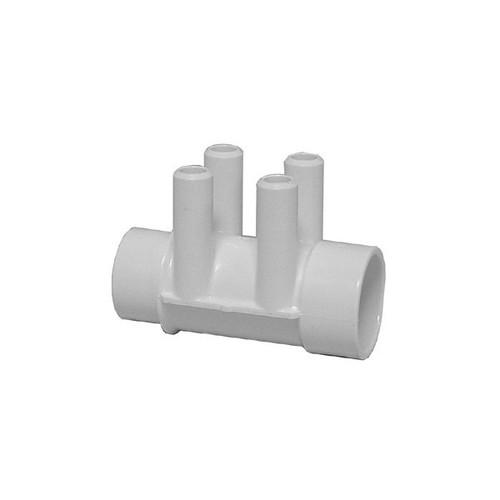 "Waterway Air Manifold Shur Grip - 1-1/2"" Slip x 1-1/2""SP x (4) 3/4"" Barb"