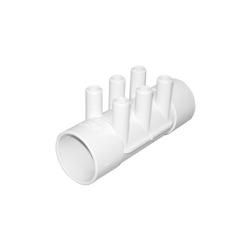"Waterway Manifold Shur Grip - 2"" S x 2""S x (6) 3/4"" Smooth Barb"