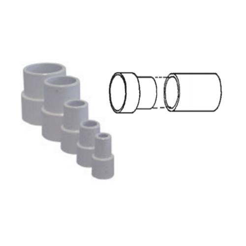 "White PVC Pipe Extender for 2-1/2"" Pipe"