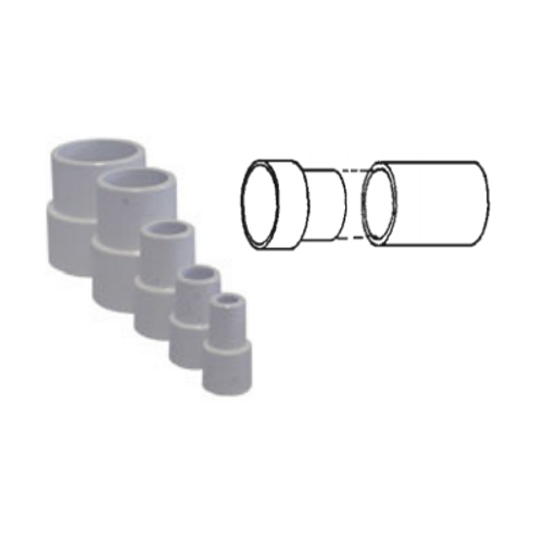"White PVC Pipe Extender for 2"" Pipe"