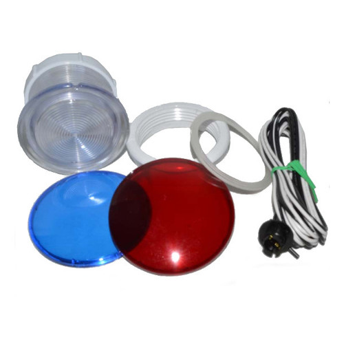 """Light Housing Kit - 3-1/2"""" Face, rear access with wire socket and bulb"""