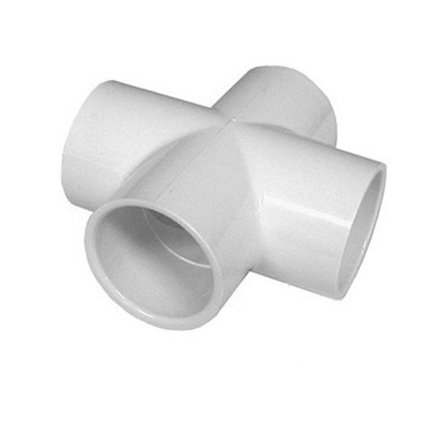 "PVC Plumbing Cross - 1-1/2"" Slip (All Sides)"