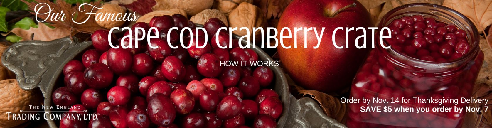 Our Famous Cape Cod Cranberry Crate - SAVE $5 when you order by Nov. 7
