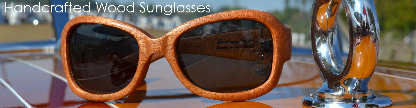 Handcrafted Wood Sunglasses for a refined, classic look of distinction...choose from 4 styles...