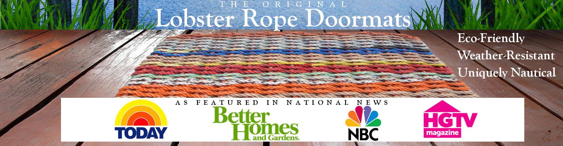 The Original Lobster Rope Doormats(TM)... Eco-Friendly, Weather-Resistant, Uniquely Nautical... As Features in National News: NBC TODAY Show, Better Homes & Gardens, NBC News, HGTV Magazine - , Handcrafted, Made in USA