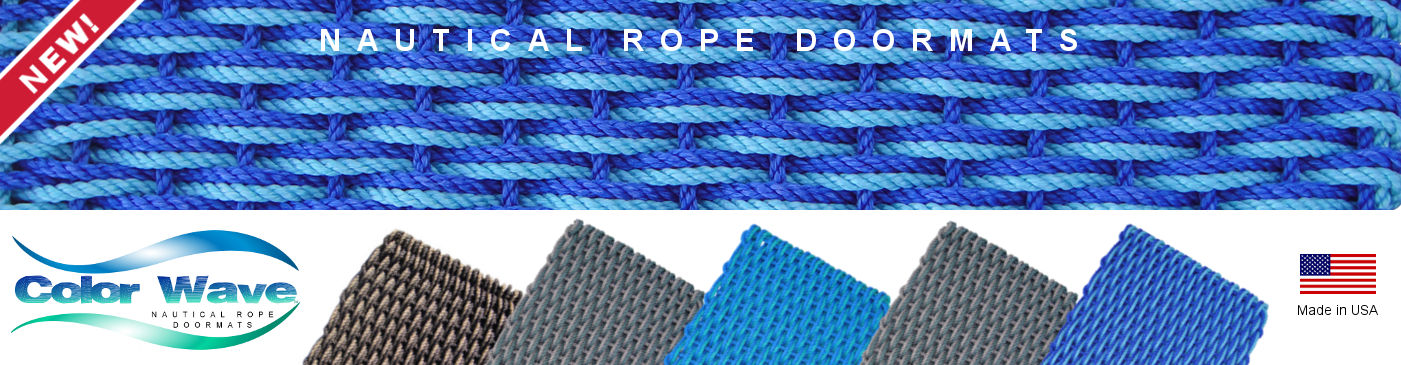 New Nautical Rope Doormats - ColorWave, Made in USA of Maine Nautical Rope