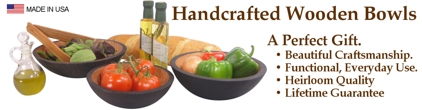 Handcrafted Wooden Bowls: A Perfect Gift... Wooden Salad Bowls of Heirloom Quality