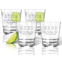 Acrylic glasses latitude longitude personalized