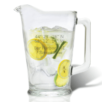 Longitude Latitude Glass Pitcher