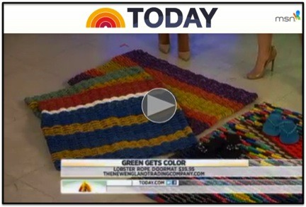 NBC TODAY Show features Recycled Lobster Rope Doormats from New England Trading Company
