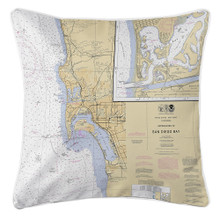 San Diego Nautical Chart Pillow