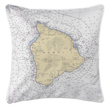 Hawaii Nautical Chart Pillow
