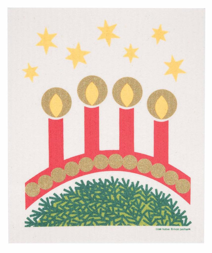 Swedish Christmas dishcloth - Advent Candles design