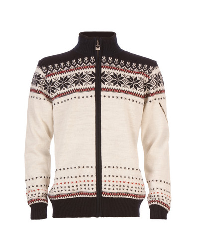 Dale of Norway Ulriken Windstopper Jacket - Off-White/Navy/Red Rose, 82781-A