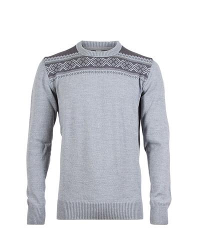 Mens Dale of Norway Hemsedal Sweater -Light Charcoal/Smoke, 91961-T