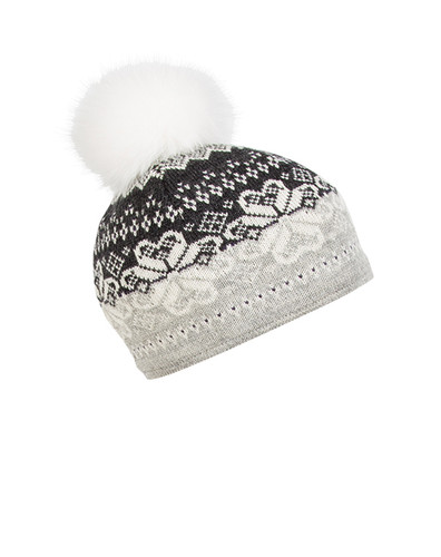Ladies Dale of Norway Floyen Hat - Dark Charcoal/Off White/Light Charcoal, 42851-E
