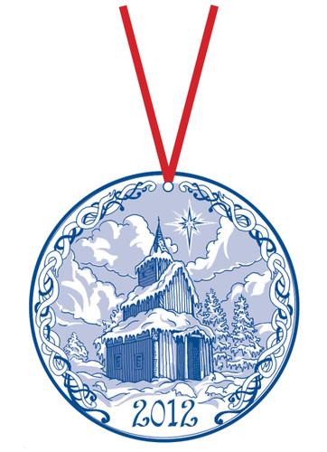 2012 Stav Church Ornament- Torpo
