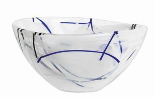 Kosta Boda Contrast White Bowl- Small
