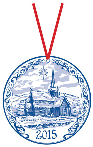 2015 Stav Church Ornament - Vaga