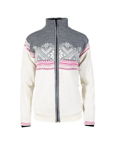 Ladies Dale of Norway Glittertind Windstopper Jacket in Off White/Light Charcoal/Allium/Smoke, 83081-A