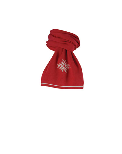 Dale of Norway Geilo Scarf - Raspberry/Off-White, 10311-B