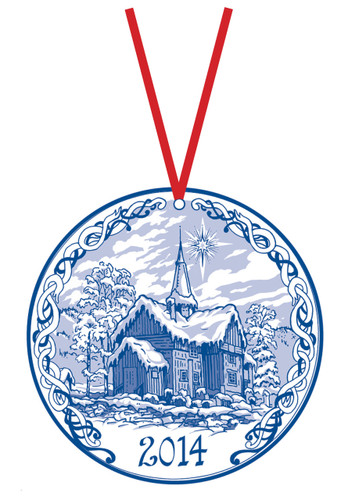 2014 Stav Church Ornament - Rollag