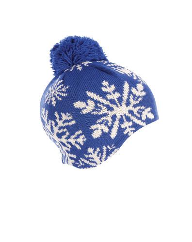 Ladies Dale of Norway Snowflake Hat - Cobalt/Off White, 40581-H